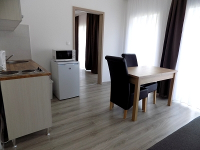 In Balatonlelle, 150 meters from Lake Balaton a ground floor apartment in a newly built apartment building is available for 2+3 people (apartment FSZ 4.)